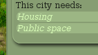 the bottom of the city info panel tells you what the city needs most